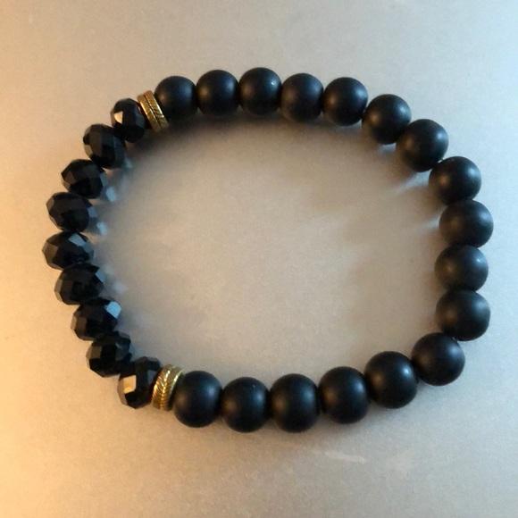 Merx Black Bead Bracelet